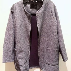 Jackets & Blazers - New Heathered Grey Coat/Jacket